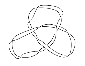 Satellite knot - Example 4: A cable of a trefoil.
