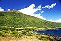 Baía da Prainha com a Montanha do Pico como fundo, São Caetano, ilha do Pico, Açores, Portugal.JPG
