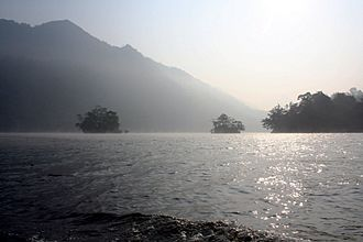 Ba Bể National Park - Morning mist over Ba Bê Lake