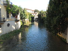 Il Bacchiglione all'interno della città di Padova