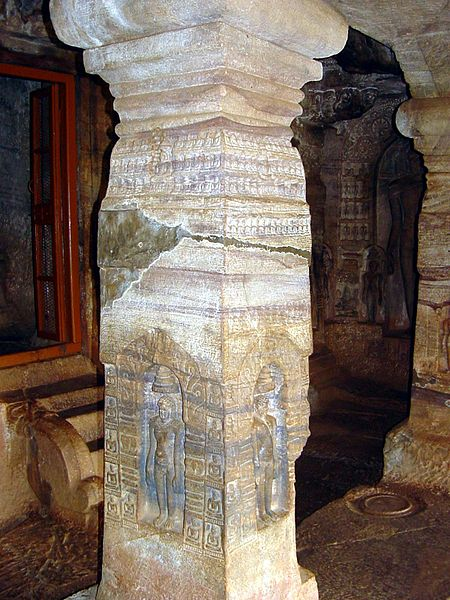 Broken Stone Pillar : Ancient india