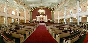 Congregation Baith Israel Anshei Emes - Synagogue sanctuary.