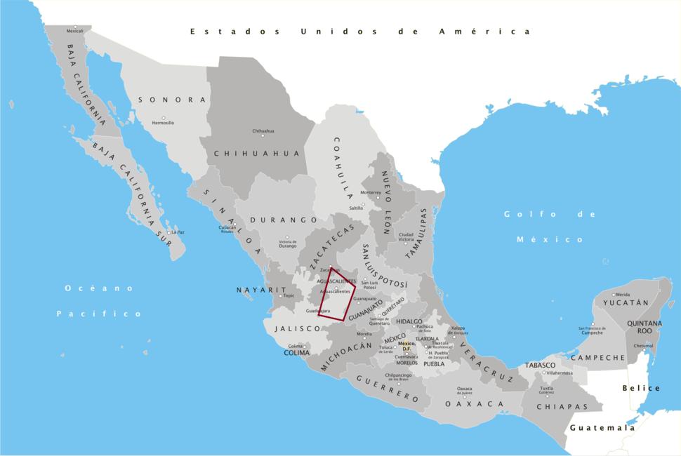 Bajío Norponiente mapa
