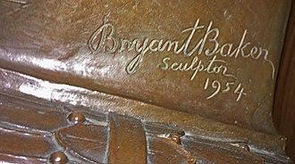 Bryant Baker - Artist's Signature. 1954.
