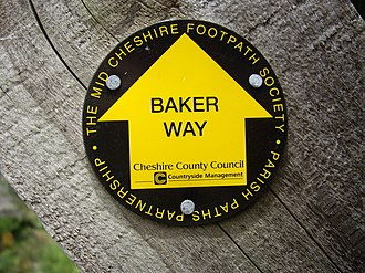 Baker Way - A waymarker for the Baker Way