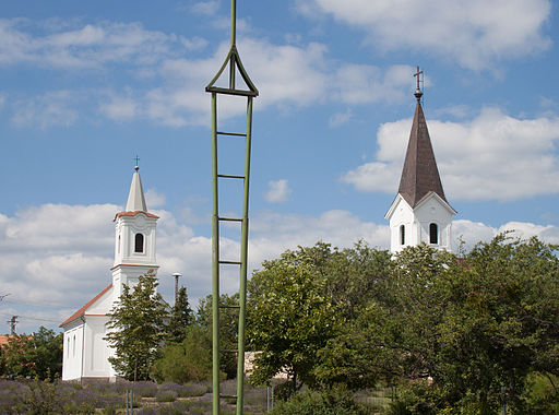 Balatonakali - the two churches