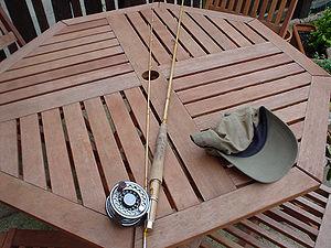 Bamboo fly rod - Image: Bamboo fly rod (51481672)