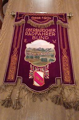 Banner Oberbadischer Radfahrer-Bund 1924, Vorderseite