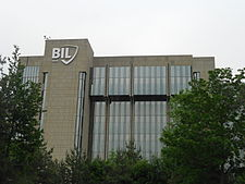 Banque internationale à Luxembourg BIL Tower in Luxembourg in May 2012 - Side.JPG