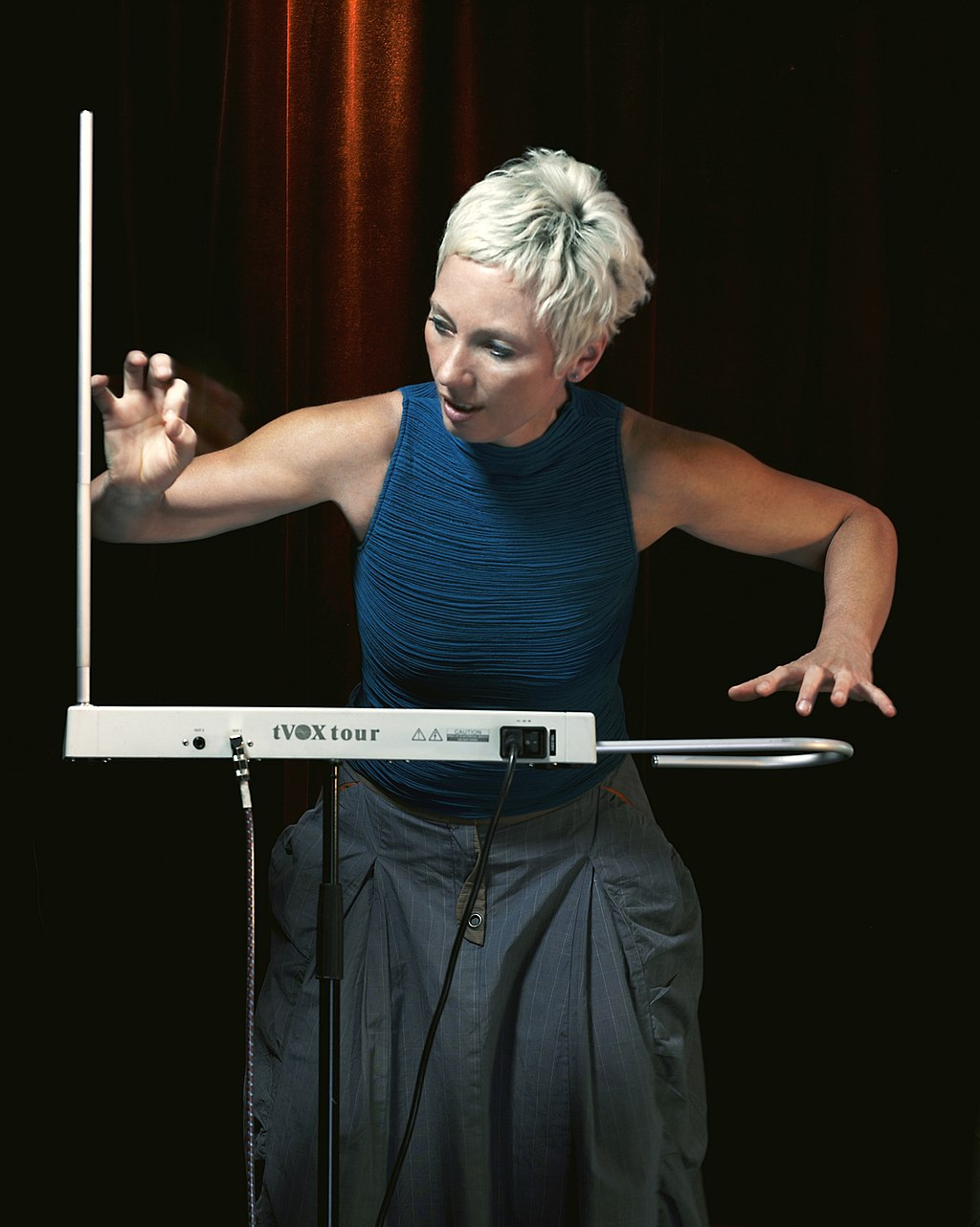 Barbara Buchholz playing TVox