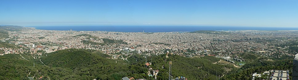 A panoramic view of Barcelona