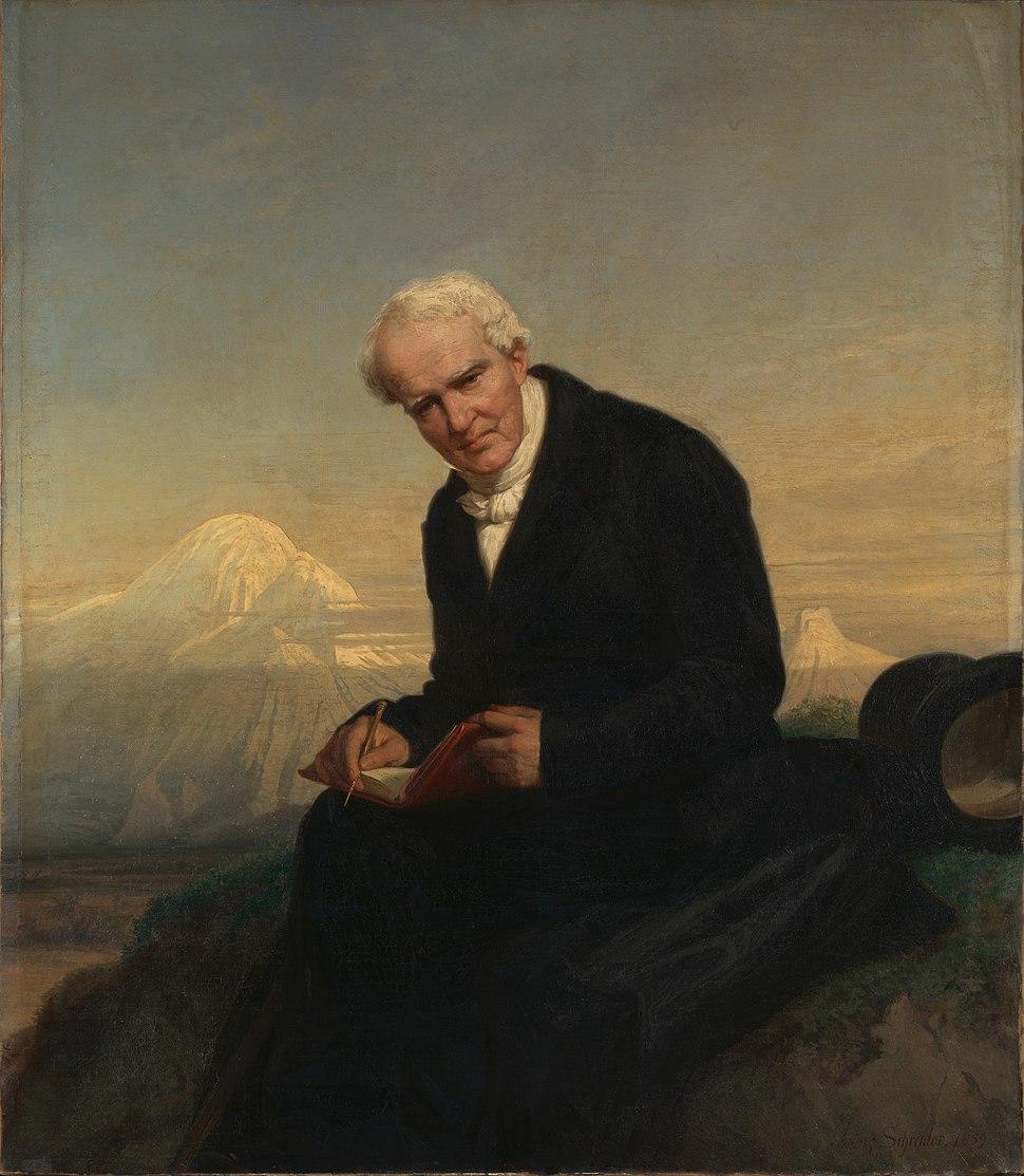Baron Alexander von Humboldt by Julius Schrader 1859
