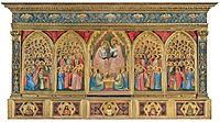 Baroncelli Polyptych c.1334 Baroncelli Chapel, Santa Croce, Florence 185x323cm..jpg