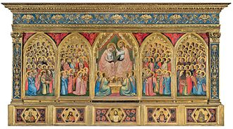 Baroncelli Chapel - Baroncelli Polyptych, painted by Giotto.