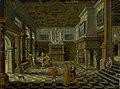 Bartholomeus van Bassen - Sumptuous renaissance interior with a banquet - KMS1969 - Statens Museum for Kunst.jpg