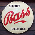 Bass Stout Pale Ale enamel advertising sign.JPG