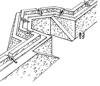 Bastion structure projecting outward from the curtain wall of a fortification