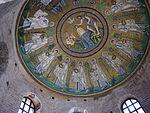 Battistero degli ariani, int, mosaico della cupola 03.JPG