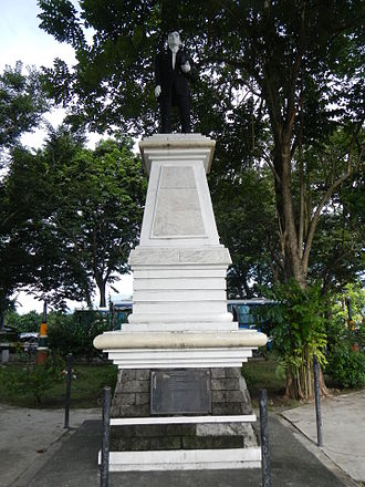 Bay, Laguna - Statue of Jose Rizal situated on a national road in Dila just at the center of two roads (going to San Pablo and Sta. Cruz).