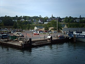 Bayfield, Wisconsin - Bayfield from the harbor