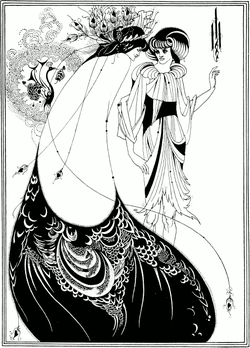 The Peacock Skirt, by Aubrey Beardsley, (1892).