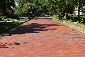 National Register of Historic Places listings in Miller County, Arkansas - Image: Beech St Bricks 1