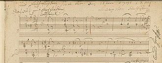 Piano Sonata No. 27 (Beethoven) - Opening bars as they appear in Beethoven's completed manuscript.