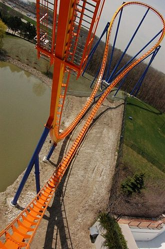 Behemoth (roller coaster) - Point of view of the hammerhead turn from the first air-time hill