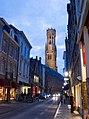 Belfort-Hal of Halletoren Brugge, gezien vanuit de Wollestraat.jpg