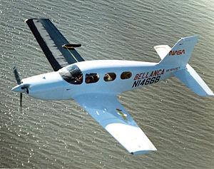Bellanca Skyrocket II - Skyrocket II under aerodynamic evaluation by NASA.