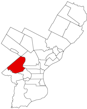 Belmont District, Pennsylvania - Image: Belmont Dist 1854