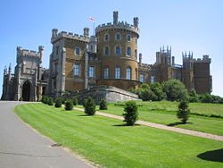 Belvoir Castle nel Leicestershire
