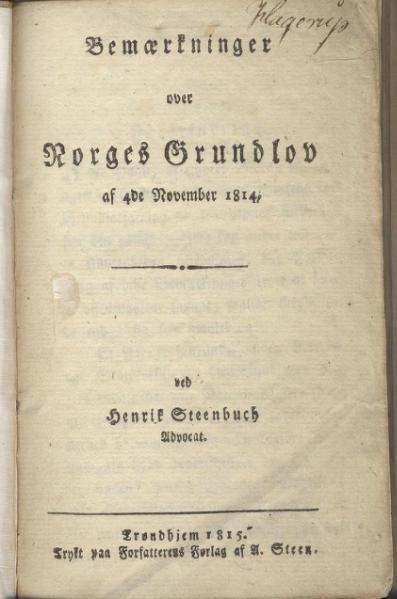 File:Bemærkninger over Norges Grundlov.djvu