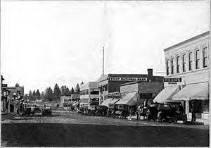 Bend, Oregon - Downtown circa 1920