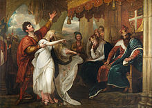 Benjamin West - Hamlet- Act IV, Scene V (Ophelia Before the King and Queen) - Google Art Project.jpg