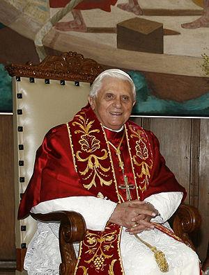 Pope Benedict XVI during visit to São Paulo, B...
