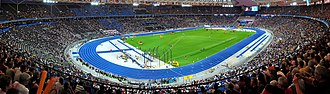 2009 World Championships in Athletics - Image: Berliner Olympiastadion night crop