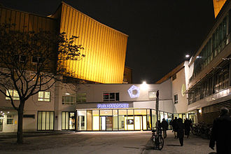 Berliner Philharmonie - Berliner Philharmonie Concert Hall Entrance in winter