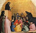 Bernardo daddi, miracolo di san pietro martire (scomparto di predella da sm novella), 1338, 02.JPG