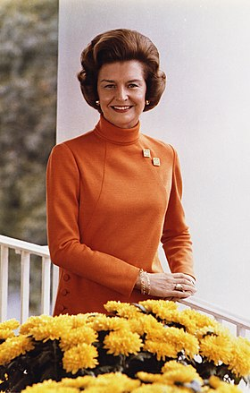 Photographie officielle de Betty Ford, à la Maison Blanche en 1974.