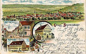 Weinstadt - Beutelsbach in 1904