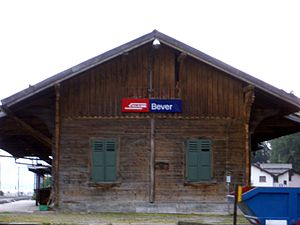 Bever (Rhaetian Railway station) - Bever station building
