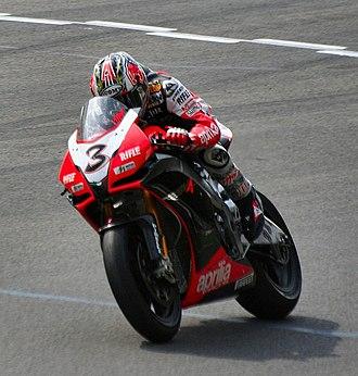 Aprilia - Max Biaggi rides the RSV4