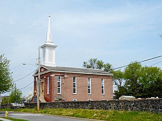 St. Martin's Church (Marcus Hook, Pennsylvania) - 1845 building, now housing the Bible Presbyterian Church of Marcus Hook