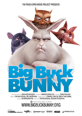 Blender (software) - Big Buck Bunny poster