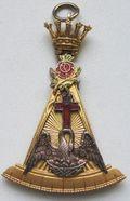 """Jóia do 18° Grau """"Cavaleiro da Rosa-Cruz"""" (REAA)"""