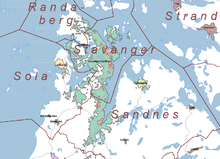 Sola Wikipedia - Norway komune map