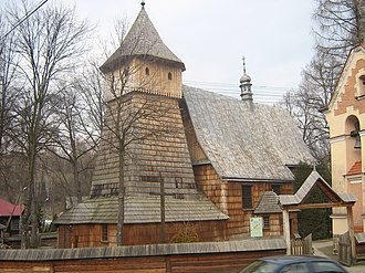 Polish Uplanders - Image: Binarowa Kosciol