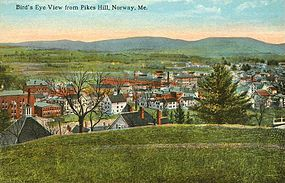 Bird's-eye view from Pikes Hill c. 1912