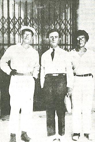 Abba Ahimeir - Ahimeir with Uri Zvi Grinberg and Yehoshua Yevin